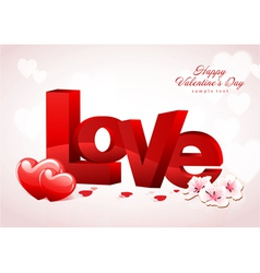 Love Valentine Background Design vector image