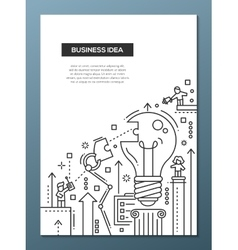 Business Idea - line design brochure poster vector image vector image