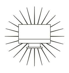computer desktop flat line icon vector image