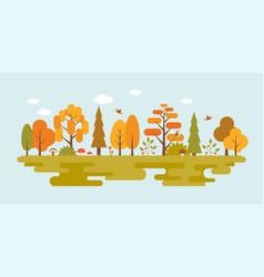 landscape of wild in autumn season vector image vector image