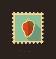 mango flat stamp tropical fruit vector image vector image