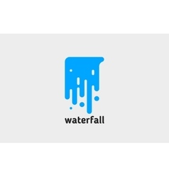 waterfall logo water logo creative logo design vector image vector image