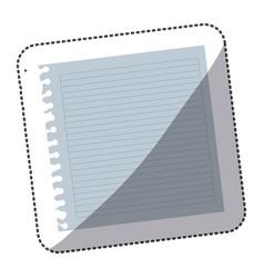 color notebook school icon vector image
