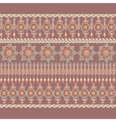 Decorative border in Indian style vector image vector image