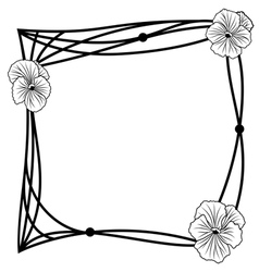 pansy frame vector image vector image