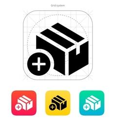 Add box icon vector