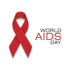 Aids awareness red ribbon world aids day concept vector
