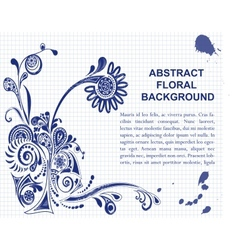backgraund whith purple flower vector image