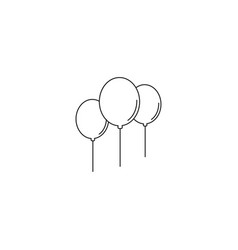 Balloons icon line style vector
