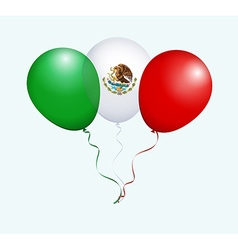 Balloons in Green White Red as Mexico National vector
