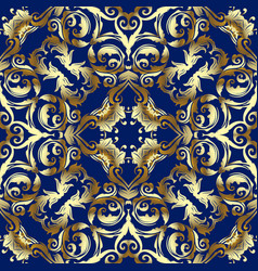 Baroque gold seamless pattern vector