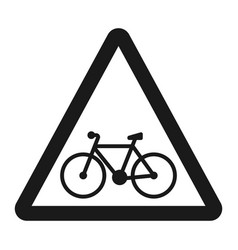 bicycle and bike lane sign line icon vector image