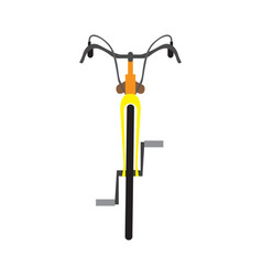 Bicycle front view vector