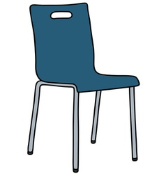 Blue chair vector
