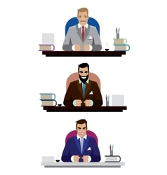 Boss set vector image vector image