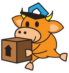 Bull and box vector