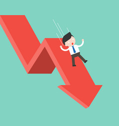 Businessman slide and falling with falling down vector
