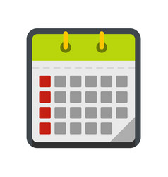 calendar office icon flat style vector image