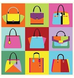 Candy color purse set vector image
