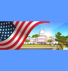 capitol building washington dc usa presidential vector image