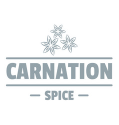Carnation spice logo simple gray style vector
