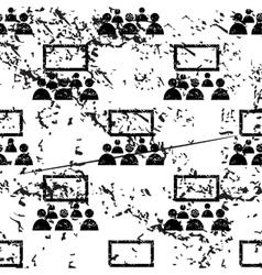 Cinema pattern grunge monochrome vector