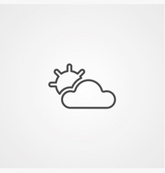 cloud icon sign symbol vector image