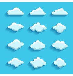 Clouds sky heaven icon symbol label logo sign vector