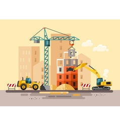 Construction site building a house vector image