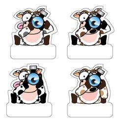 Cow Camera vector