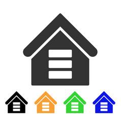 Data center building icon vector