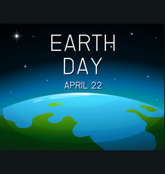 Earth day space poster vector