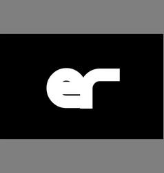 Er e r black white bold joint letter logo vector