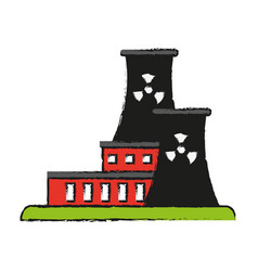 Factory cartoon draw vector