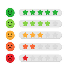 feedback concept color five stars rating and vector image