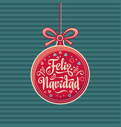 feliz navidad greeting card in spain vector image