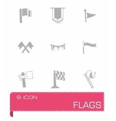 Flags icon set vector image