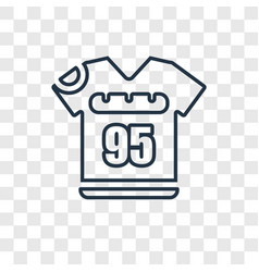 Football t shirt with number 83 concept linear vector