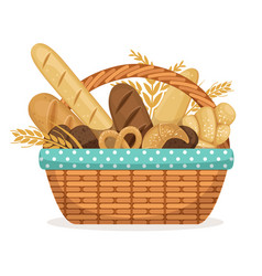 For bakery shop basket with vector