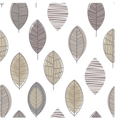 forest leaves seamless pattern design element can vector image