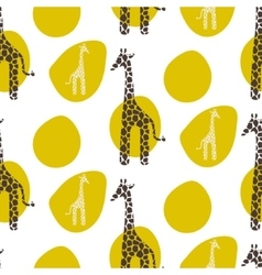 Giraffe seamless pattern Safari animal vector image