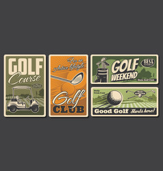 golf sport clubs and equipment leisure activity vector image