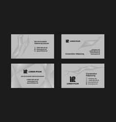 Gray business cards set vector