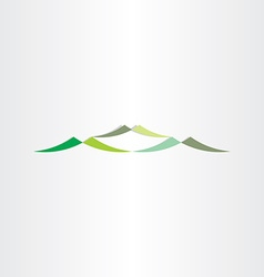 Green mountains logotype design icon vector