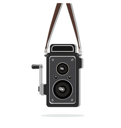 Hanging old fashion camera vector