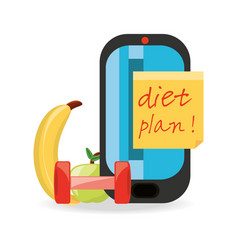 Healthy listyle to diet plan vector