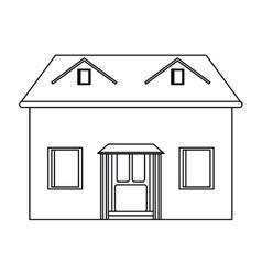 house facade loft outline icon vector image