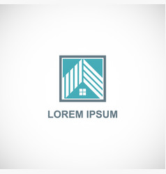 house roof company logo vector image