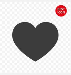 icon heart logo valentine s day black heart vector image
