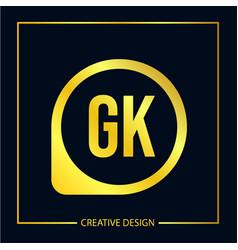 Initial letter gk logo template design vector